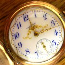 Waltham Pocket Watch w Ornate Multi Color Case and Dial, Hunter Style, C1902 (Pocket Watches)