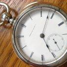Waltham P.S. Bartlett 18S Key Wind Pocket Watch - 5 OZ Silver Case (Pocket Watches)