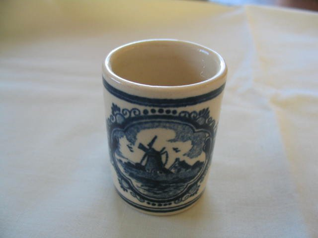Delft Liquer tumbler or shot glass  Hand Painted
