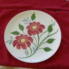 Blue Ridge Dinner Plate Red Flowers