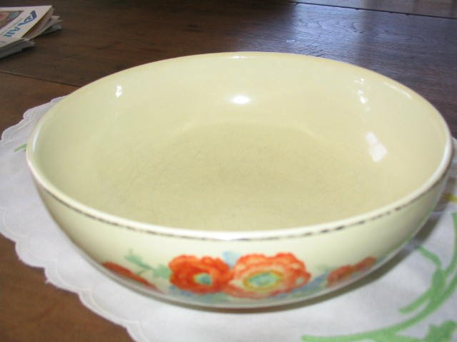 Hall Orange Poppy Vegetable Bowl