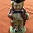 Vintage Miniature Toby Jug: Gentleman with Bird