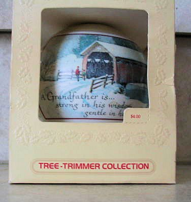 Hallmark 1980 Tree-Trimmer Ornament:  Grandfather.