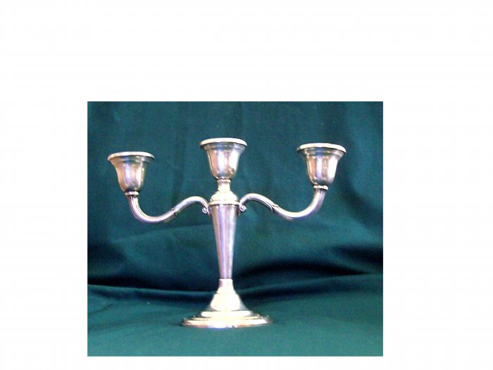 Pair of International Sterling Silver Candleabra:  Courtship