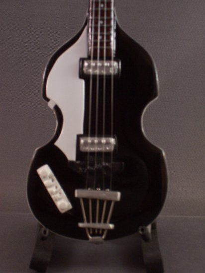 BEATLES PAUL MCCARTNEY Mini Black Bass Collectible Gift