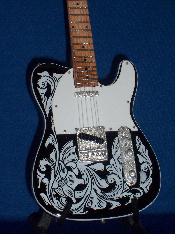 WAYLON JENNINGS Mini Guitar Memorabilia Collectible Gift
