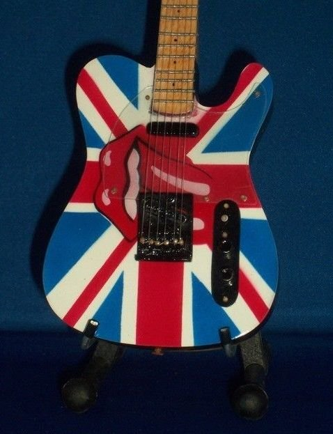 ROLLING STONES KEITH RICHARDS Mini Famous Guitar Memorabilia Collectible Gift