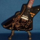 AMON AMARTH OLAVI MIKKONEN Miniature Guitar MINI BLACK DRAGON Collectible Gift