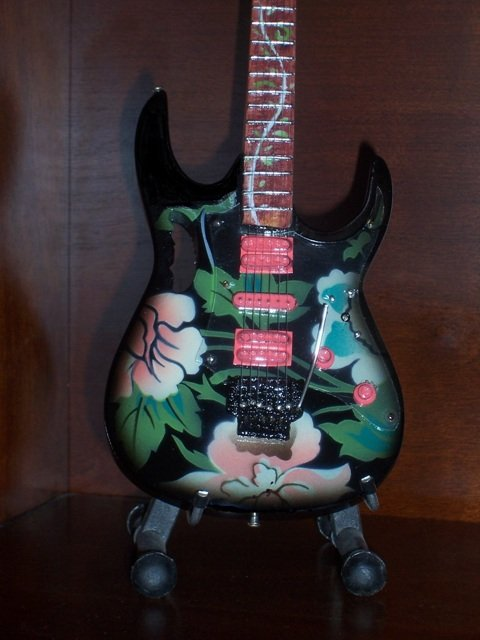 STEVE VAI Mini Famous Guitar FLOWER Collectible Gift