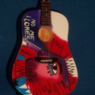 COLDPLAY CHRIS MARTIN Mini ACOUSTIC Miniature Guitar Collectible Gift