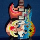 TODD RUNDGREN Mini Guitar FOOL SG Memorabilia Collectible Gift