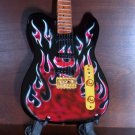 JAMES BURTON Rockabilly Flames Mini Guitar Collectible Gift