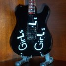 Miniature Collectible MOTLEY CRUE MICK MARS Memorabilia Guitar GIRLS GIRLS GIRLS Gift