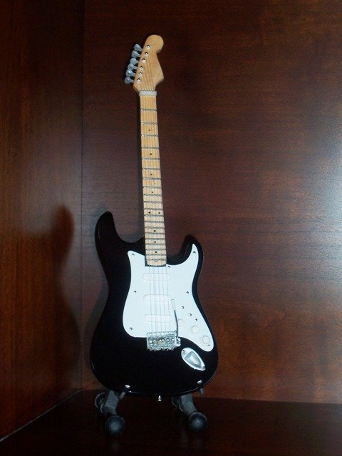 ERIC CLAPTON Mini Guitar BLACK Collectible Gift