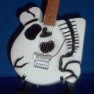 POISON CC DEVILLE Memorabilia Skeleton Miniature Guitar