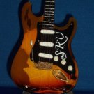 STEVIE RAY VAUGHAN Mini Famous Guitar WORN Version Memorabilia Collectible Gift