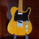 BRUCE SPRINGSTEEN Mini Guitar NATURAL WOOD TELE Miniature Collectible Gift