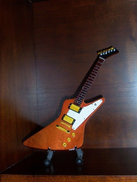 Collectible U2 THE EDGE Mini Famous Guitar Memorabilia Gift