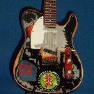 THE CLASH JOE STRUMMER Mini TRASH CITY Miniature Guitar Collectible Gift