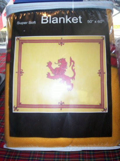 "Scottish Lion Rampant Blanket Super soft 50"" x 60"""