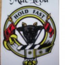 Clan MacLeod , Scottish sticker , coat of arms , decal