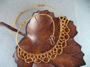 Topaz Swarovski Lace Necklace