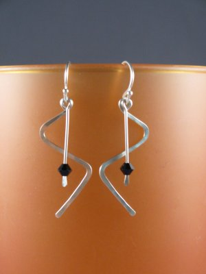 Sterling Zig-Zag Dangle Earrings