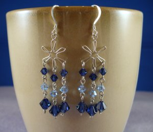 Swarovski Crystal Star Chandelier Earrings