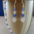 Frosted Elegance Bracelet & Earrings Set