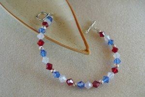 Red, White, & Blue Swarovski Bracelet