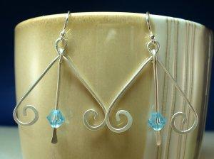 Upside-Down Heart Dangle Earrings
