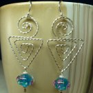 Sterling Twisted Dangle Earrings