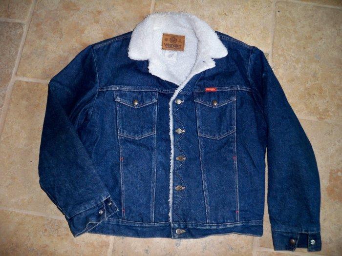 wrangler jean sherpa jacket coat size large