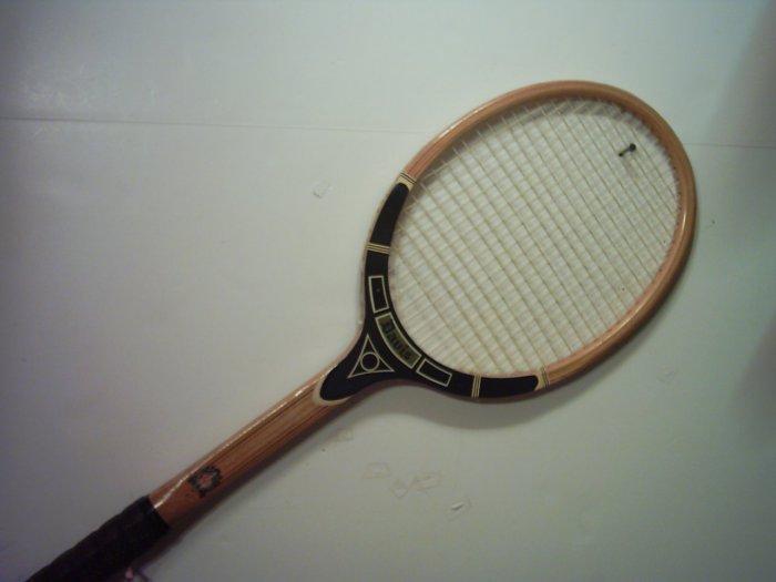 Tad Davis Professional Black Wood Vintage Tennis Racquet 4-1/2 M (SN TAD16)