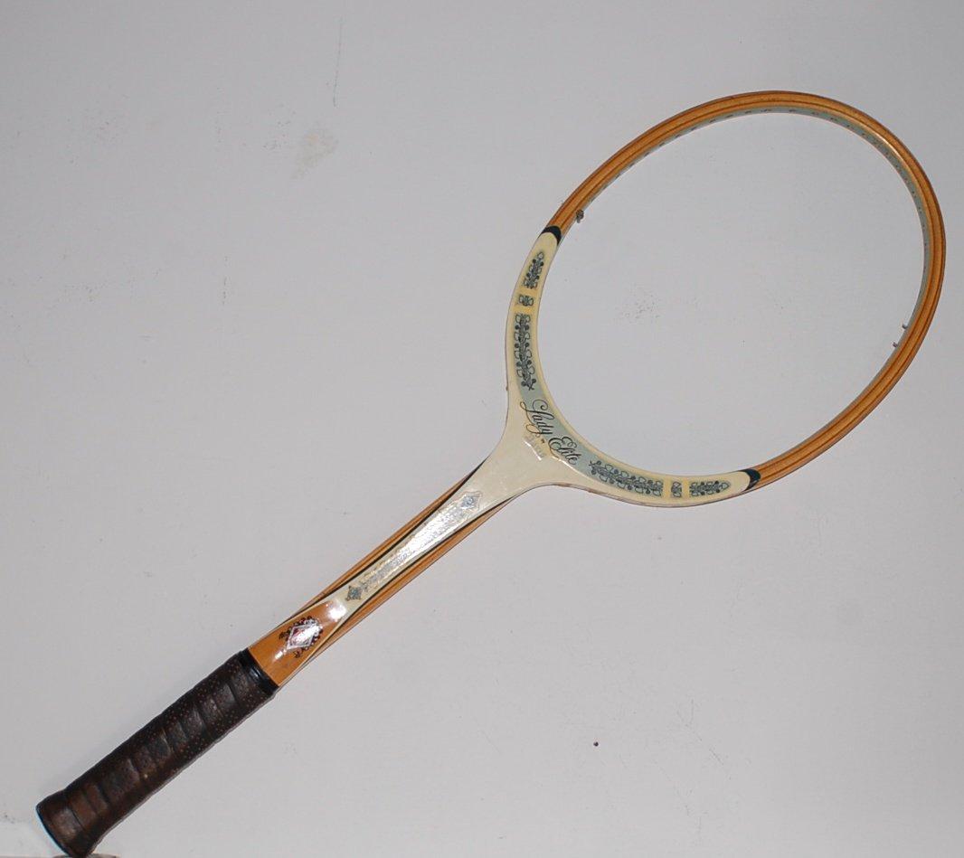 Tad Davis Lady Elite Wood Vintage Tennis Racquet 4-3/8 L SN TAD17