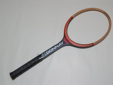 "Donnay  All Wood   Vintage Tennis Raquet 4"" grip (DOW02)"