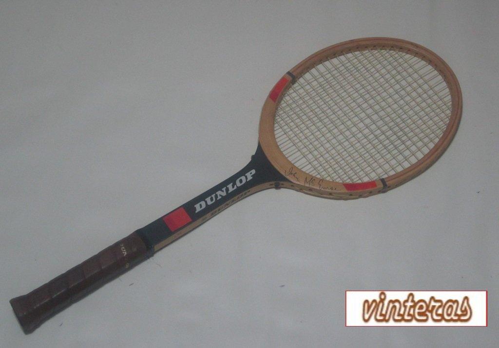 Dunlop John McEnroe Wood Tennis Racquet DUNW10A