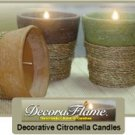 Handcrafted Citronella Candles