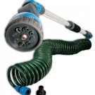 Coiled Hose and adjustable watering wand