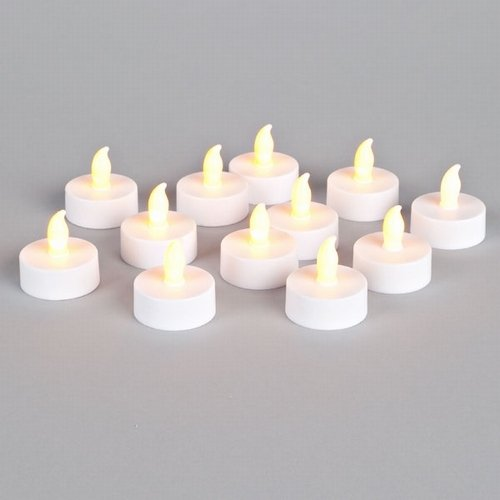 Super Bright Flameless Tealights - Set of 12