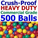 Free Shipping 500 pcs Commercial Grade Crush Proof Plastic Ball Pit Balls 5 Colors 3&quot; Phthalate Free