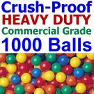 Free Shipping 1000 pcs Commercial Grade Crush Proof Plastic Ball Pit Balls 5 Color 3&quot; Phthalate Free