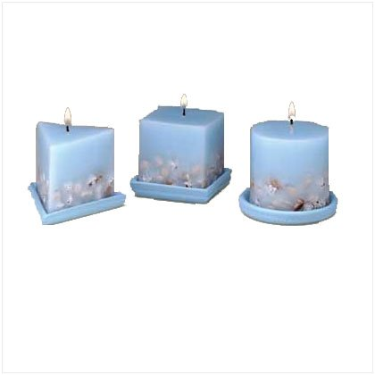 Designer Sea Shell Candle Set