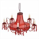 Red Leather Chandelier