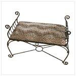 Leopard Print Bench