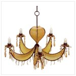 Amber Leather Chandelier