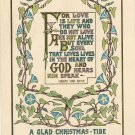 Vintage Christmas Postcard Arts and Crafts Motto style Design of Twining Morning Glories