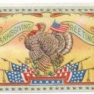 Vintage Patriotic Thanksgiving Postcard Turkey Flags ca 1908