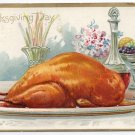 Vintage Thanksgiving Postcard Roast Turkey AS RJ Wealthy Tuck