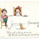 Vintage Thanksgiving Postcard Children AS Brundage Gabriel 1913